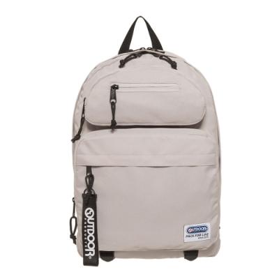 【OUTDOOR】繽紛原色-14吋筆電後背包-淺灰色 OD201104LGY