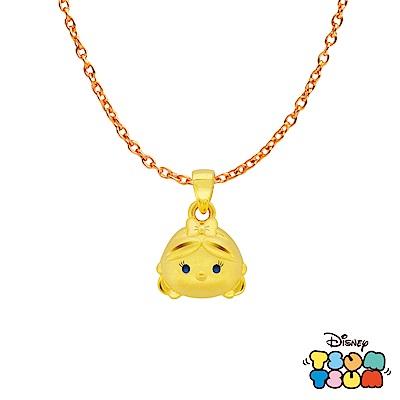 Disney迪士尼TSUM TSUM系列金飾 黃金墜子-愛麗絲款 送項鍊
