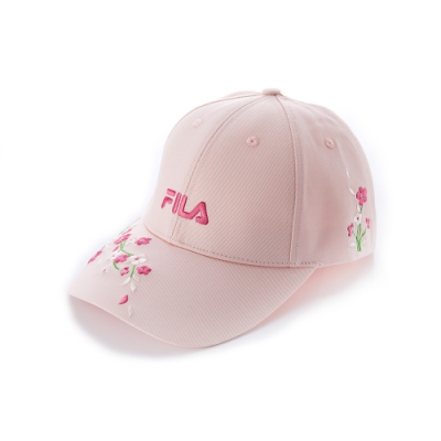 FILA 時尚LOGO帽-粉 HTU-1200-PK