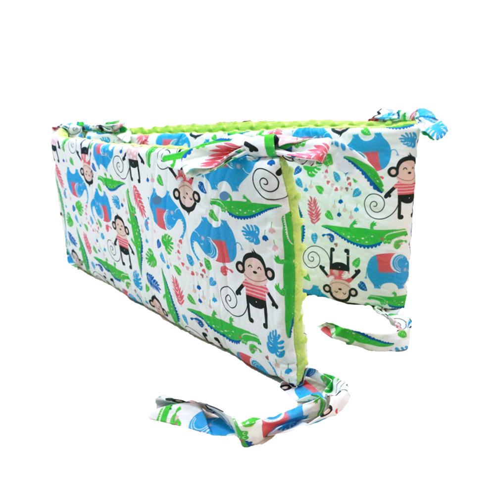 La Millou 拉米洛100%純棉床圍護欄(歡樂拉拉猴-香草綠薄荷) @ Y!購物