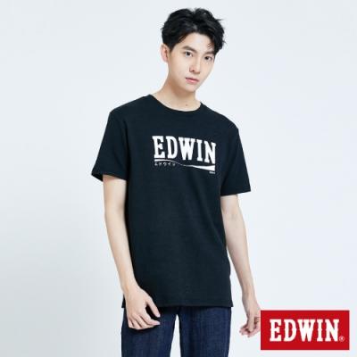 EDWIN 超市系列 涼感飲品LOGO 短袖T恤-男-黑色
