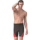 聖手牌 泳裝 素面紅邊飾五分男泳褲