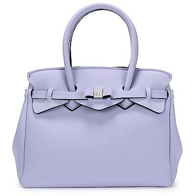 SAVE MY BAG Miss系列簡約輕量防水托特包-紫丁香色