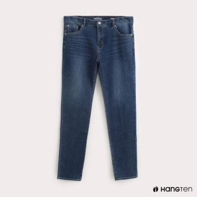 Hang Ten-男裝STRAIGHT FIT經典直筒牛仔褲-藍