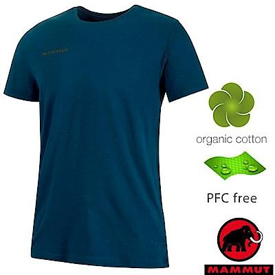 長毛象 Logo T-Shirt 男新款 短袖圓領休閒棉T_波賽頓藍