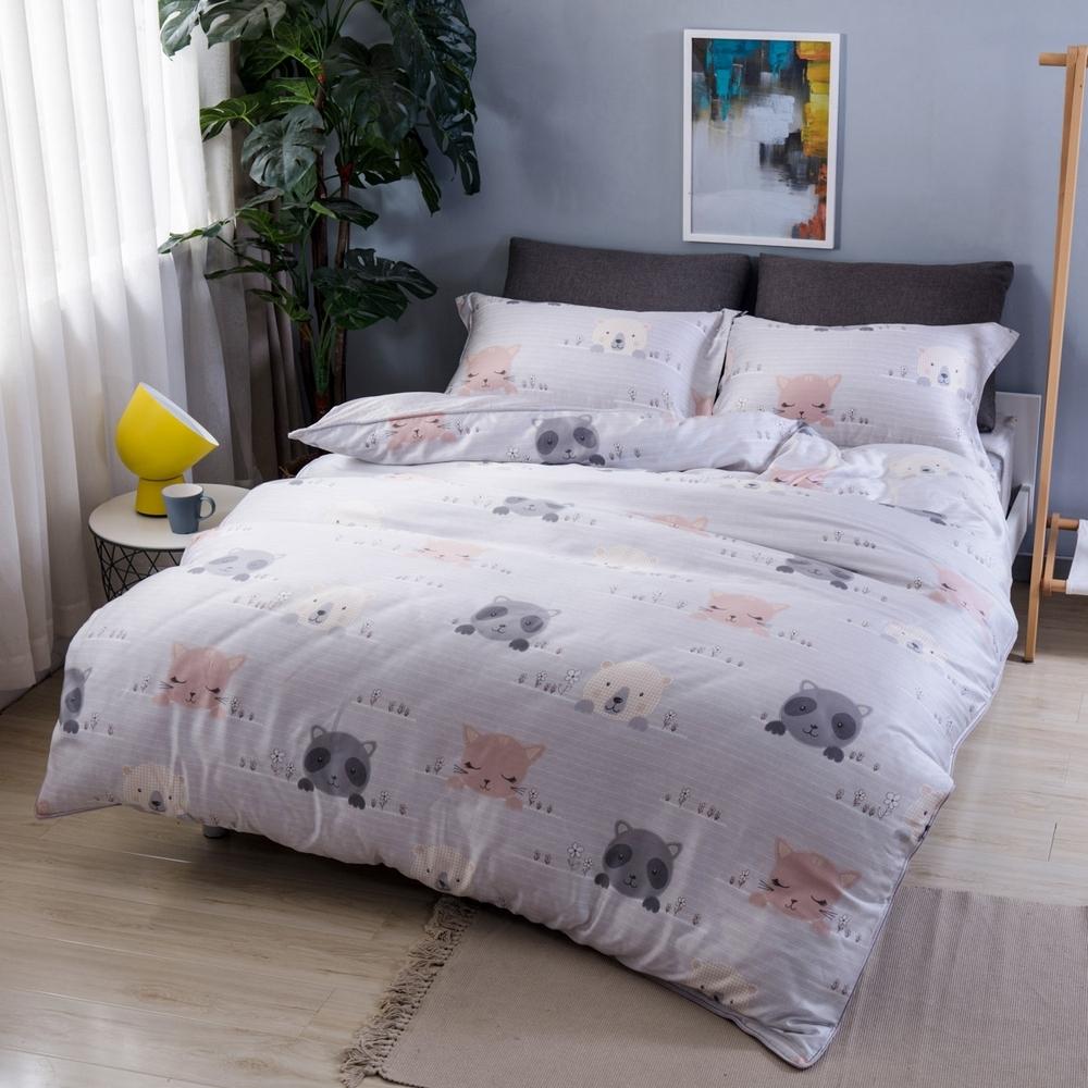 夢工場樂園狂歡40支紗萊賽爾天絲四件式兩用被床包組-特大
