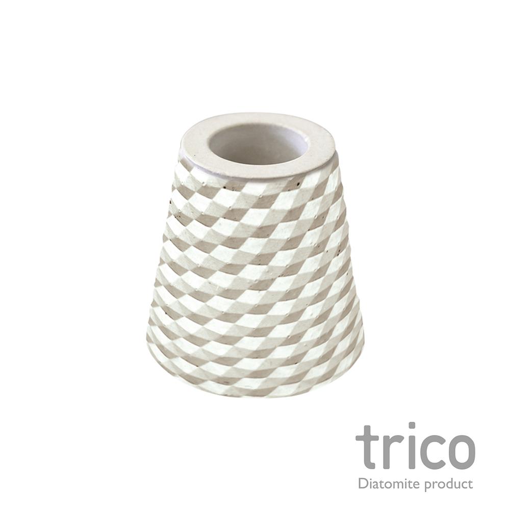 TRICO 菱格珪藻土牙刷架-灰