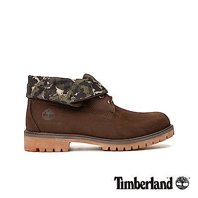 Timberland 男款深咖啡色正絨面皮革靴|A21AP