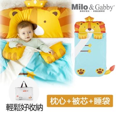 【Milo&Gabby】動物好朋友-二合一超柔軟四季睡袋 (LONNIE小獅王)