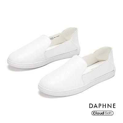 達芙妮DAPHNE 休閒鞋-經典原色百搭雲軟樂福鞋- 白色
