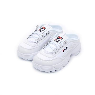 FILA DISRUPTOR 2 Mule中性運動鞋-白 4-C116U-125