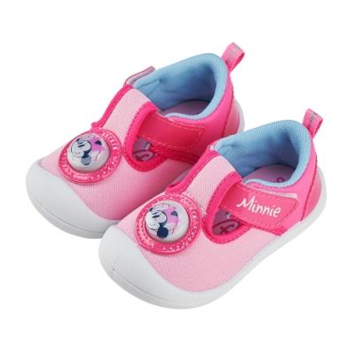 迪士尼童鞋 米妮 吸睛電燈寶寶鞋-粉(柏睿鞋業)