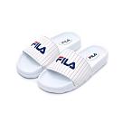 FILA KIDS 大童MD運動拖鞋-白 3-S413U-123