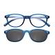 【 Z·ZOOM 】老花眼鏡 磁吸太陽眼鏡系列 時尚復古經典款 (藍色) product thumbnail 1