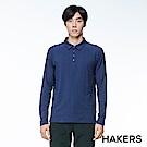 【HAKERS】男款 舒適休閒POLO衫(藍色)