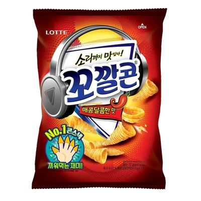 Lotte樂天 玉米脆角-甜辣(72g)