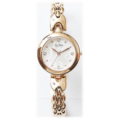 ALBA 小資女浪漫系列晶鑽女錶-IP金(AH8328X1)/22mm