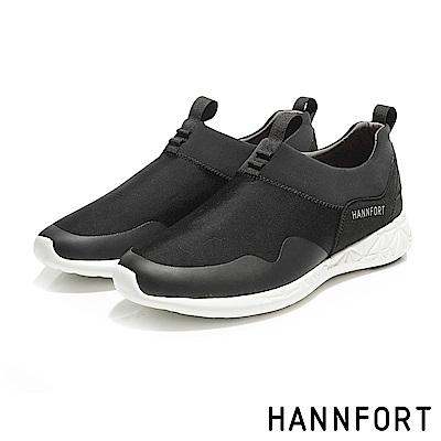 HANNFORT ICE萊卡彈力運動休閒鞋-男-勁量黑
