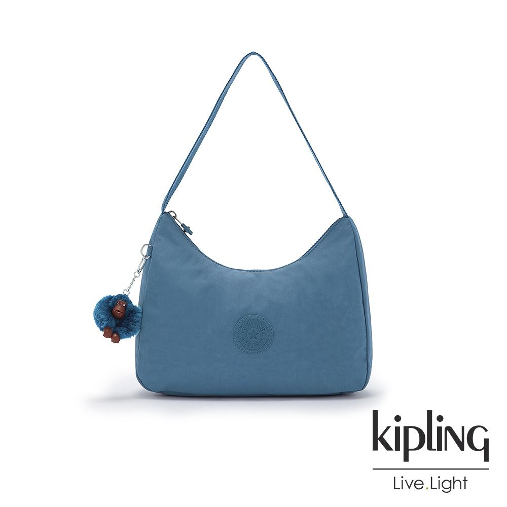 Kipling 優雅天穹藍造型大開口拉鍊手提肩背包-ESTEBAN