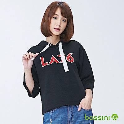 bossini女裝-連帽厚棉上衣01黑