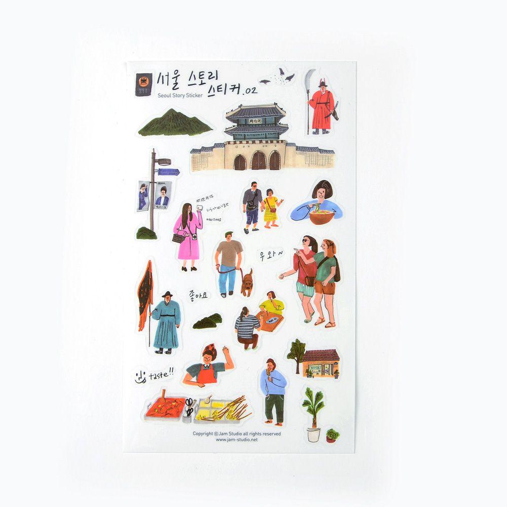 Jamstudio 首爾地標旅遊貼紙-02 景福宮