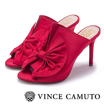VINCE CAMUTO 優雅V字蝴蝶結魚口高跟鞋-紅色