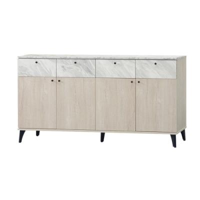 【綠活居】哈根   現代5尺四抽四門餐櫃/收納櫃-150x40x82cm免組