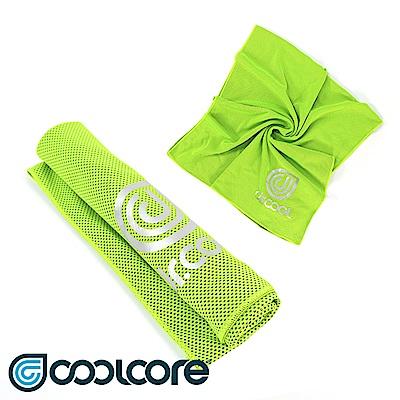 COOLCORE Chill Sport 涼感運動巾 螢光綠(涼感,降溫,運動)