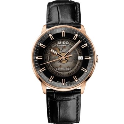 MIDO美度 Commander Gradient香榭系列 煙灰漸層機械腕錶 M0214073641100