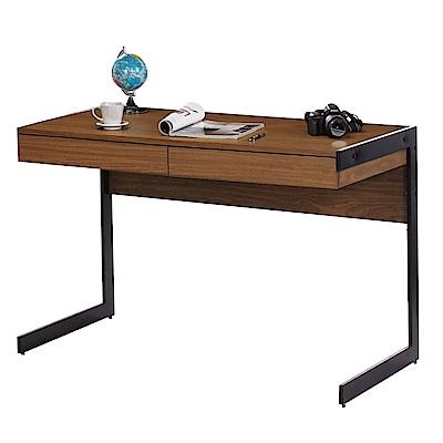 文創集 卡托時尚4尺木紋書桌/電腦桌-120x60x77cm免組
