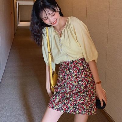 【KISSDIAMOND】時髦輕熟泡泡袖上衣(輕熟女/3色S-2XL/KDT-723)