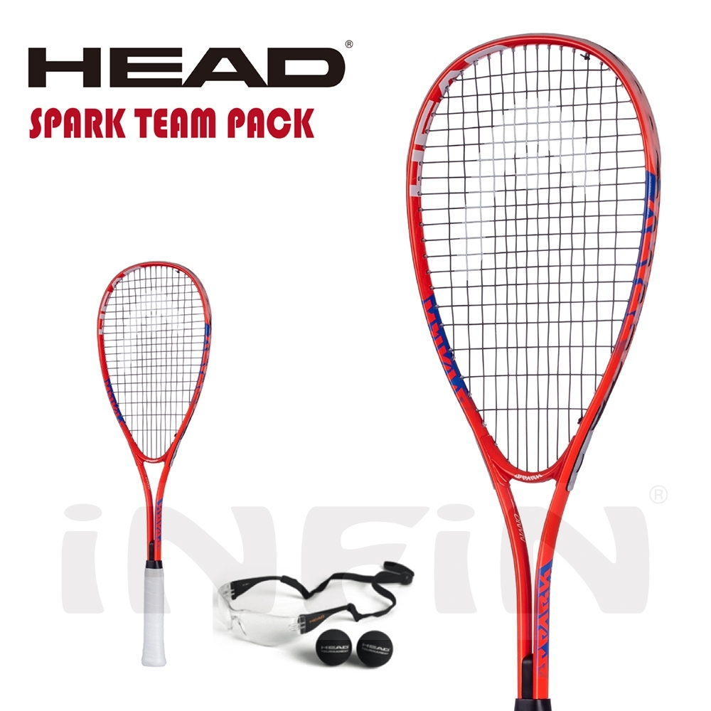 【HEAD】壁球拍 SPARK TEAM PACK 195g 紅/藍 214128