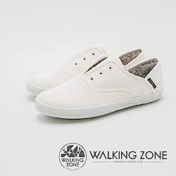 WALKING ZONE 帆布系列 防潑水果漾休閒 女鞋-米粒白