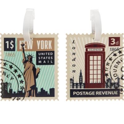 《TRAVELON》造型行李掛牌2件(郵票)