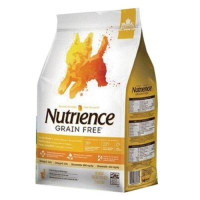 加拿大Nutrience紐崔斯GRAIN FREE無穀養生小型犬-火雞肉+雞肉+鯡魚(放養火雞&漢方草本) 2.5kg(5.5lbs) (NT-F6176) 兩包組