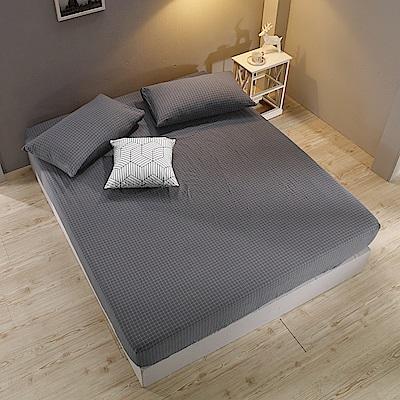鴻宇 雙人特大床包枕套組 色織水洗棉 納維亞 台灣製