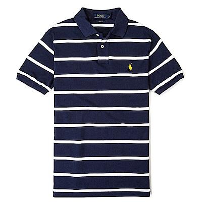 Polo Ralph Lauren 經典小馬條紋Polo衫(Custom)-深藍色