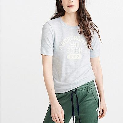麋鹿 AF A&F 經典印刷文字設計短袖T恤(女)-水藍色