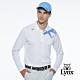 【Lynx Golf】男款吸濕排汗Lynx字樣山貓繡花長袖POLO衫-白色 product thumbnail 2