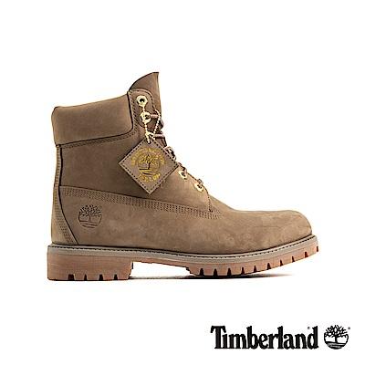 Timberland 男款深米色户外防水皮革6吋靴|A1UFS
