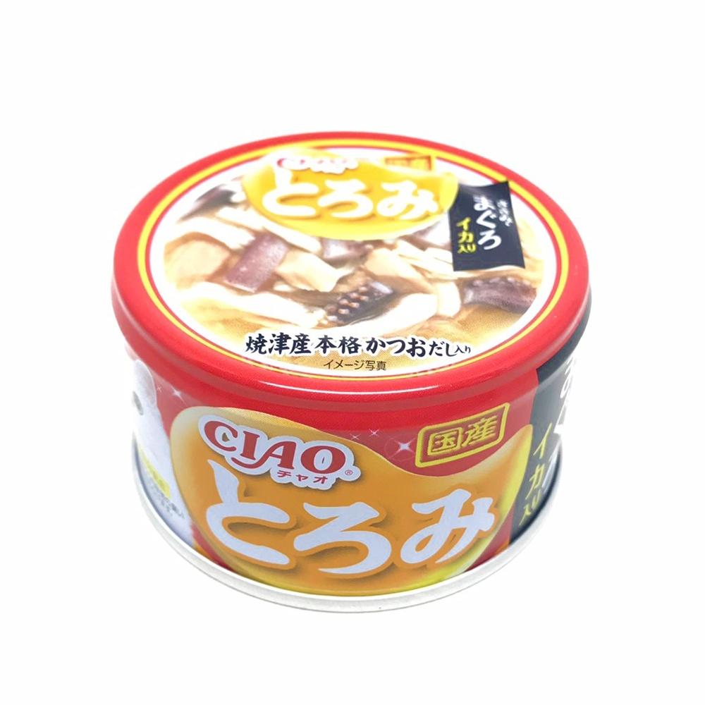 日本 CIAO 多樂米濃湯罐 A-53 雞肉&鮪魚&花枝 80g