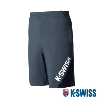 K-SWISS Slope KS Logo Shorts運動短褲-男-灰