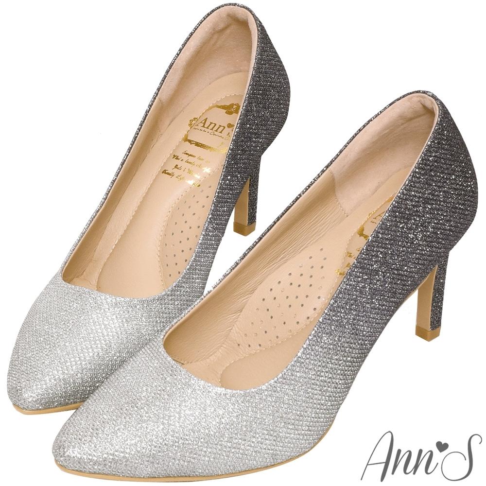 Ann'S無比氣勢2.0-軟質漸層亮片尖頭高跟鞋-黑