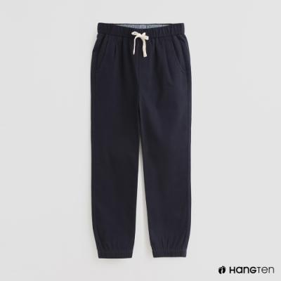 Hang Ten -童裝 - 素色抽繩運動長褲 - 深藍
