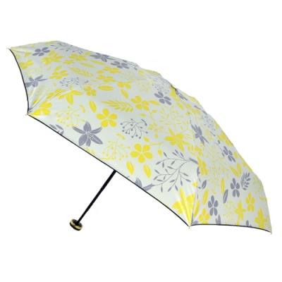 2mm 100%遮光 采漾印花黑膠降溫五折手開傘 (花朵)