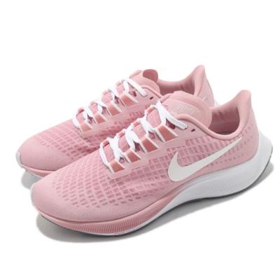 Nike 慢跑鞋 W Air Pegasus 37 女鞋 Zoom 氣墊 避震 路跑 球鞋 粉 白 DH0129600