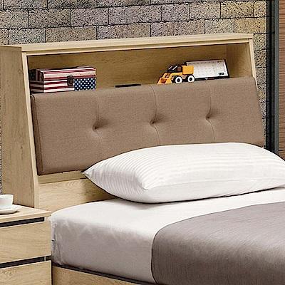 文創集 柏頓時尚3.5尺貓抓皮革單人床頭箱(不含床底)-106.5x24x107cm免組