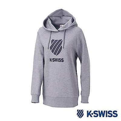 K-SWISS Hooded Sweat Shirts女時尚連帽上衣-女-灰