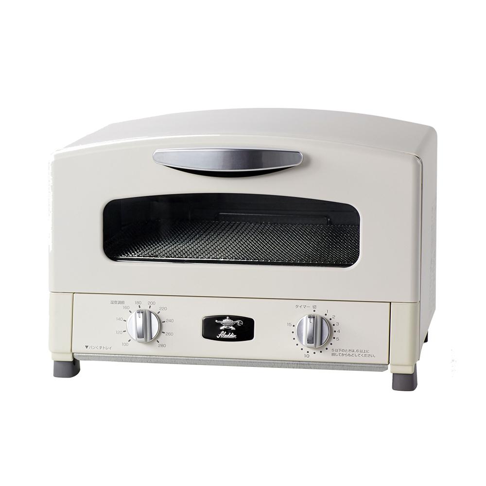 日本Sengoku Aladdin 千石阿拉丁「專利0.2秒瞬熱」多用途烤箱(內附烤盤)白