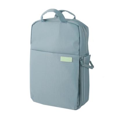 ELECOM 帆布3WAY薄型後背包OF04-煙燻藍